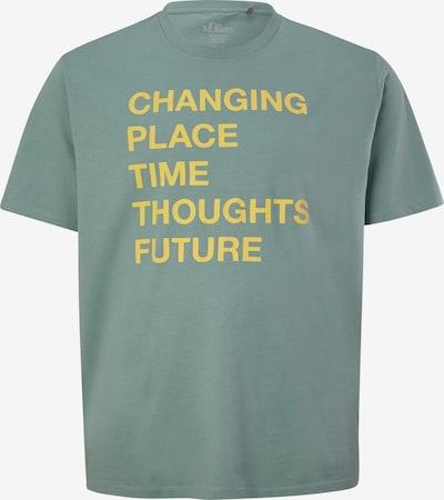 s.Oliver T-Shirt in gelb / pastellgrün, Produktansicht