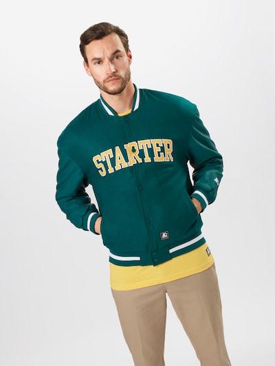 Giacca di mezza stagione Starter Black Label di colore giallo / verde scuro / bianco: Vista frontale