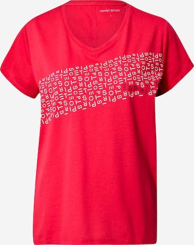 ESPRIT SPORT Functioneel shirt in de kleur Rood / Wit, Productweergave