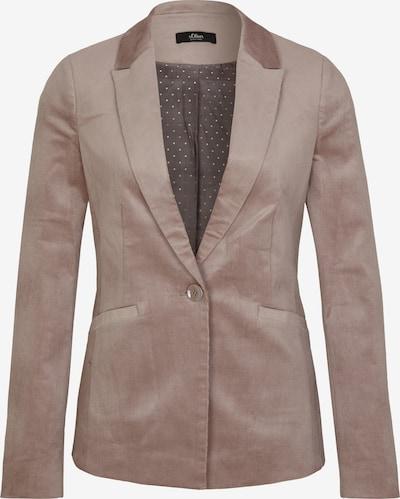 s.Oliver BLACK LABEL Blazers in de kleur Stone grey, Productweergave