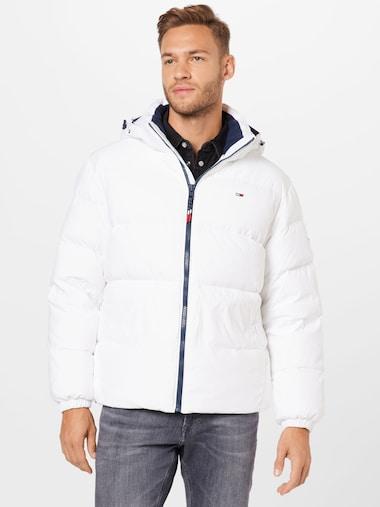 Tommy Jeans zimska jakna u navy / vatreno crvena / bijeloj boji