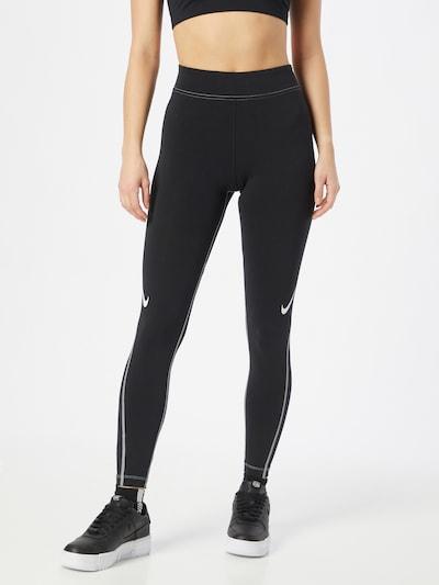 Nike Sportswear Leggings in schwarz / weiß, Modelansicht