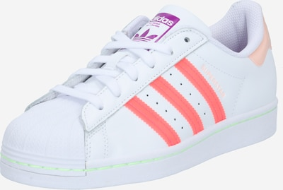 ADIDAS ORIGINALS Baskets basses 'Superstar' en corail / rose / blanc, Vue avec produit