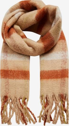 MANGO Šal 'Nelson' | pastelno oranžna / rjasto rdeča / bela barva, Prikaz izdelka