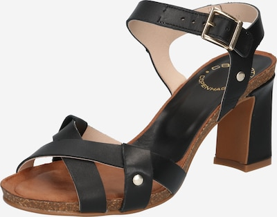 Sandale cu baretă Ca'Shott pe negru, Vizualizare produs