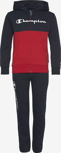 Champion Authentic Athletic Apparel Jogginganzug in marine / rot / weiß, Produktansicht