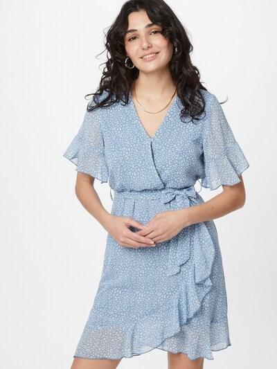 SISTERS POINT Košilové šaty 'NEW GRETO-4' - kouřově modrá / bílá, Model/ka