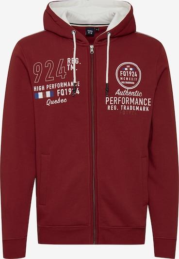 FQ1924 Kapuzensweatjacke 'THURE' in rot, Produktansicht