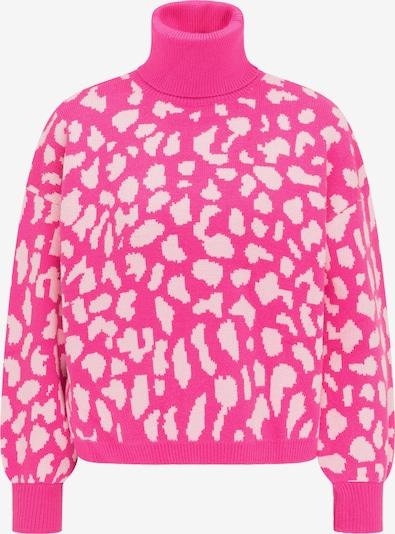 MYMO Pullover in pink / weiß, Produktansicht
