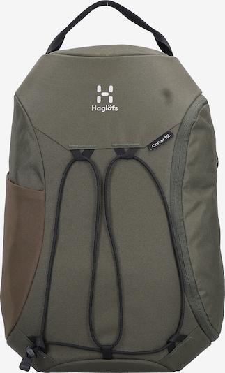 Haglöfs Sportrugzak in de kleur Olijfgroen / Zwart / Wit, Productweergave