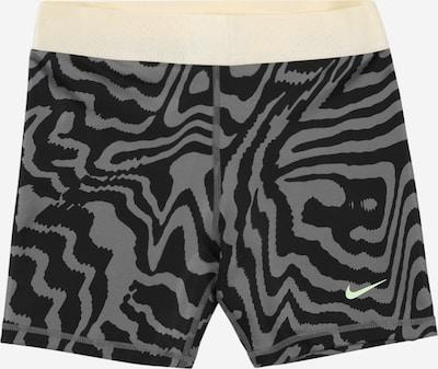 NIKE Спортен панталон в сиво / черно / бяло, Преглед на продукта