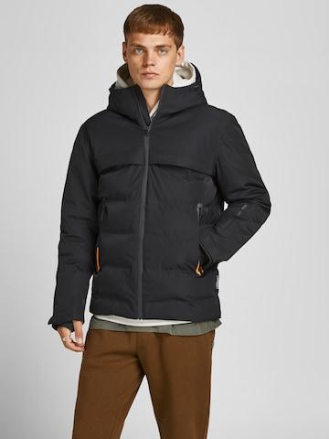 Manteau d'hiver 'Darwin' JACK & JONES en noir