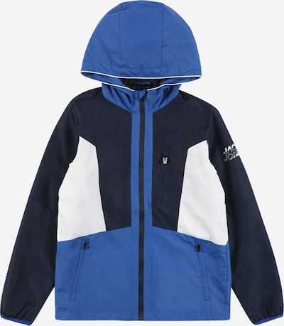 Jack & Jones Junior Jacke 'JCOCARSON' in blau / navy / weiß, Produktansicht