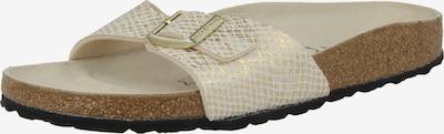 BIRKENSTOCK Pantolette 'Madrid' i kräm / guld, Produktvy