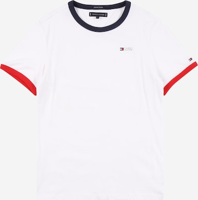 TOMMY HILFIGER Shirt 'RINGER' in navy / rot / weiß, Produktansicht