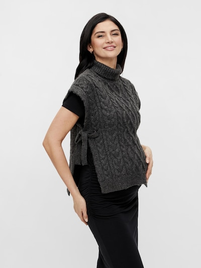 MAMALICIOUS Pullover 'Sonya' in graphit, Modelansicht