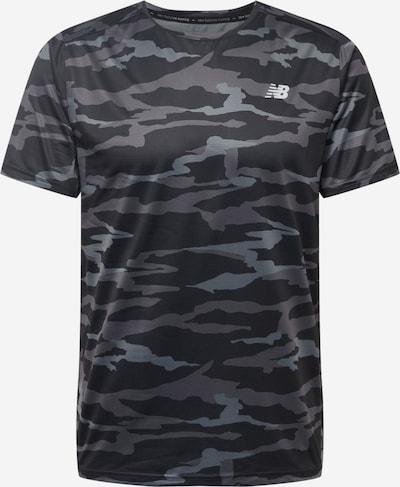 new balance T-Shirt fonctionnel en gris / gris fumé / noir, Vue avec produit