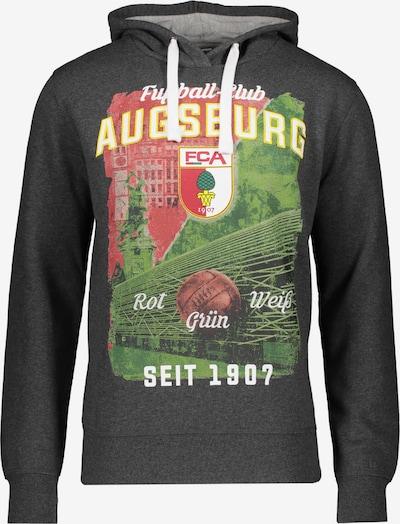FC Augsburg Sweatshirt in anthrazit / grün / rot, Produktansicht