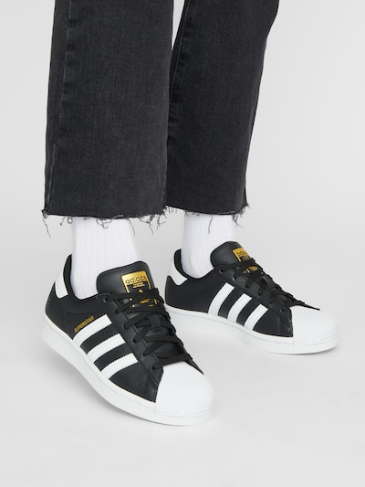 ADIDAS ORIGINALS Sneakers 'Superstar' in Gold / Black / White: Frontal view