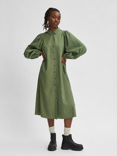 SELECTED FEMME Robe-chemise en vert / noir, Vue avec modèle