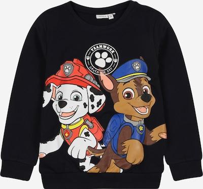 NAME IT Sweatshirt 'PAW PATROL MARVIN' in marine / dunkelblau / braun / hellrot / weiß, Produktansicht
