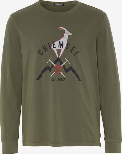 CHIEMSEE Functioneel shirt 'BROAD PEAK' in de kleur Olijfgroen / Zwart / Wit, Productweergave