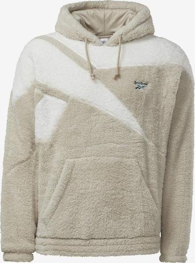 Reebok Classic Pullover in beige / weiß, Produktansicht