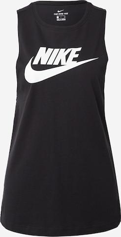 Top di Nike Sportswear in nero
