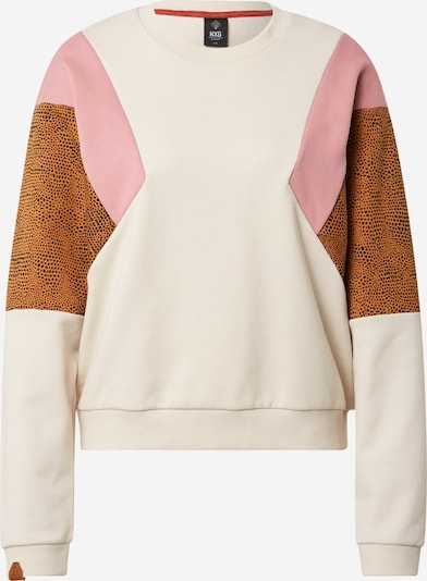 PROTEST Sports sweatshirt 'CAYLON' in Cognac / Pink / Black / natural white, Item view