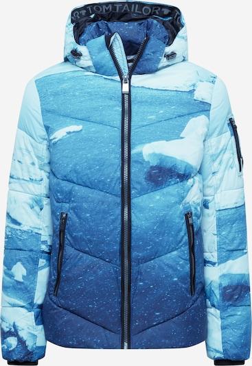 Geacă de iarnă TOM TAILOR pe albastru aqua / albastru închis / alb, Vizualizare produs