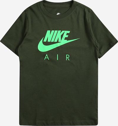Maglietta Nike Sportswear di colore verde neon / verde scuro, Visualizzazione prodotti