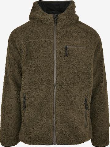 Brandit Teddyfleece Jacke in Grün