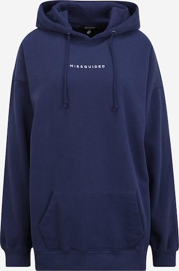 Missguided Tall Sportisks džemperis, krāsa - tumši zils / balts, Preces skats