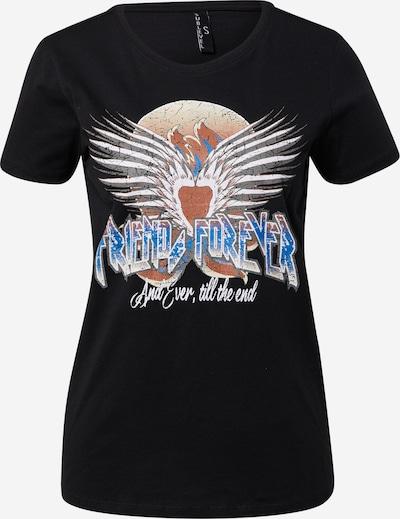Sublevel T-Shirt in himmelblau / silbergrau / pastellrot / schwarz / weiß, Produktansicht