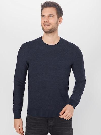 BOSS Casual Пуловер 'Komesrlo' в тъмносиньо: Изглед отпред