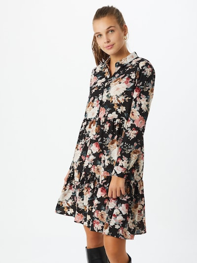 ONLY Košeľové šaty 'Larry' - zmiešané farby / čierna, Model/-ka