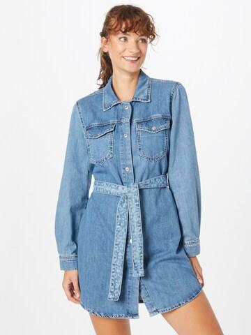 Tally Weijl Shirt Dress in Blue