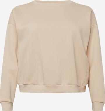 Guido Maria Kretschmer Curvy Collection Sweatshirt 'Shelly' in Beige