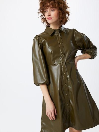 minimum Kleid 'Bahira' in dunkelgrün, Modelansicht