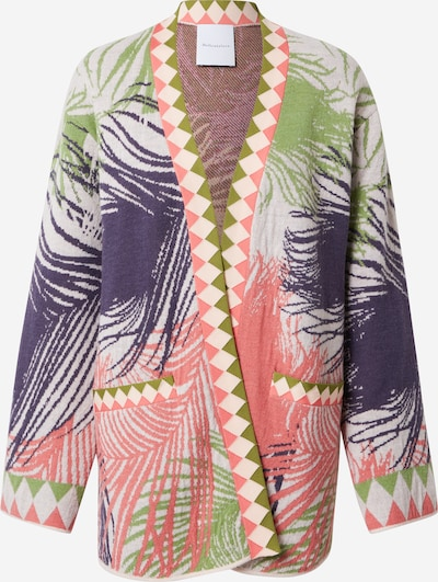 DELICATELOVE Knit cardigan 'Anja' in Green / violet / Pink / White, Item view