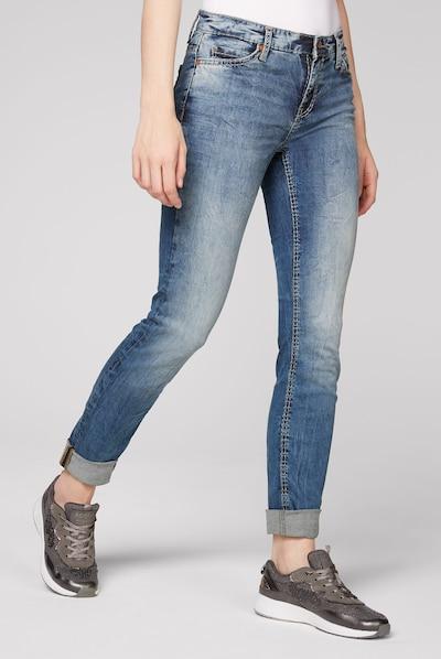 Soccx Jeans HE:DI mit Bleaching-Effekten in blau, Modelansicht