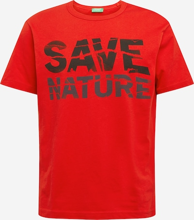 UNITED COLORS OF BENETTON Shirt in rot / schwarz: Frontalansicht