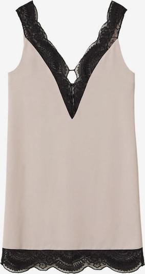MANGO Negligé-Kleid 'lacy' in pastelllila / schwarz, Produktansicht