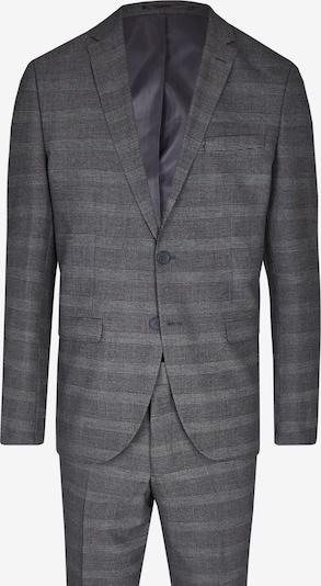 Steffen Klein Anzug in grau / schwarz / weiß, Produktansicht