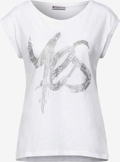 STREET ONE T-Krekls, krāsa - Sudrabs / balts, Preces skats