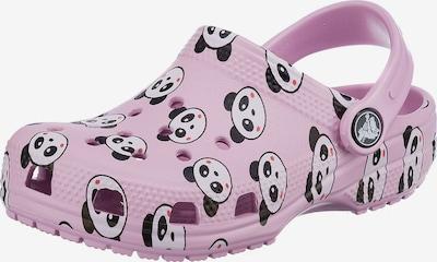 Crocs Clog in rosa / grenadine / schwarz / weiß, Produktansicht