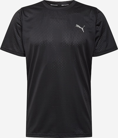 PUMA Functioneel shirt in de kleur Lichtgrijs / Zwart, Productweergave