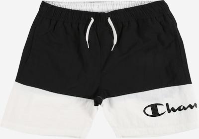 Șorturi de baie Champion Authentic Athletic Apparel pe negru / alb, Vizualizare produs