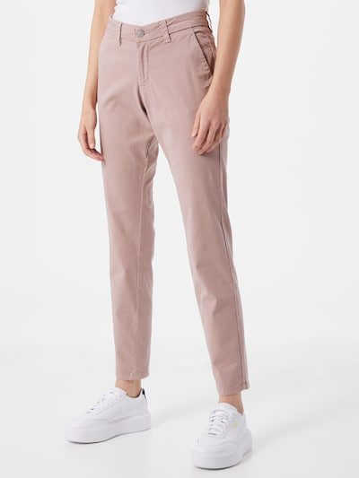 SELECTED FEMME Chino 'SLFMILEY' in de kleur Oudroze, Modelweergave