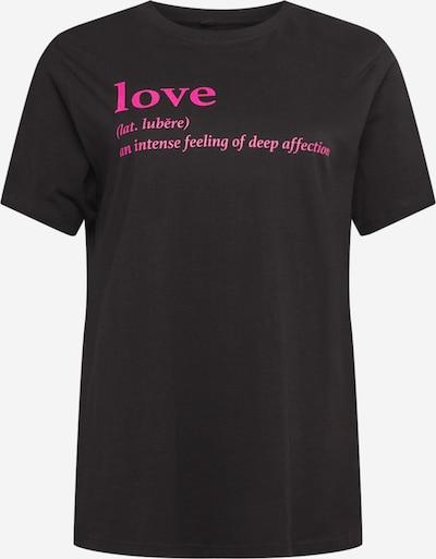 Mister Tee Curvy Shirt 'Ladies Love Definition' in Neon pink / Black, Item view